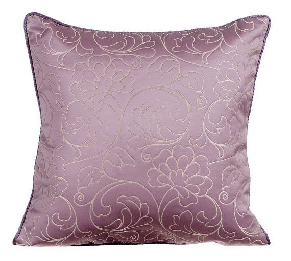 Purple Throw Pillows For Bed 16x16 Pillow Covers Silk Jacquard Floral Throw Pillows Covers Modern Throw Pillow Cover Sofa Purple Fleurir Purple Throw Pillows Floral Throw Pillow Covers Throw Pillows