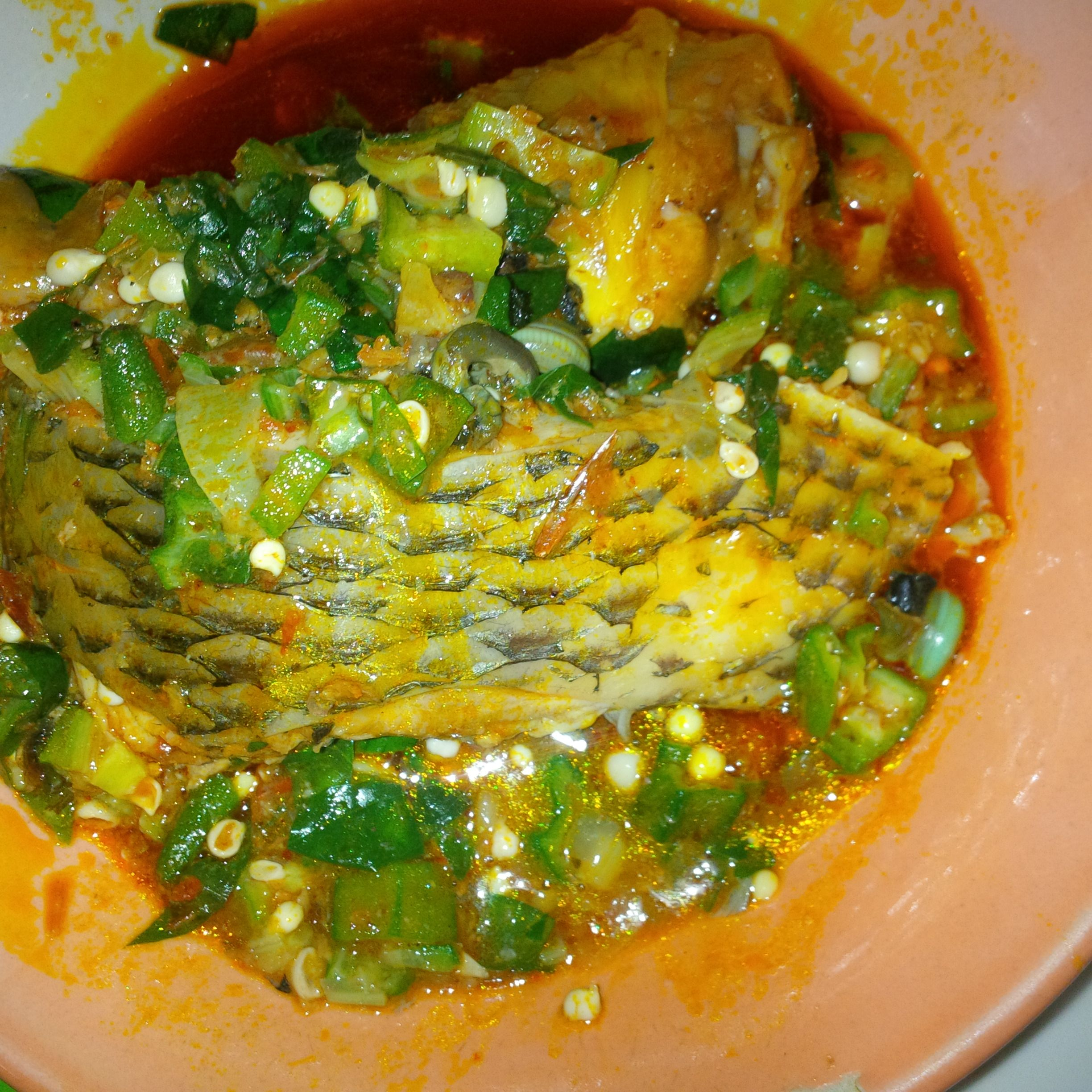 Okro soup with tilapia nigerian food pinterest for Authentic african cuisine from ghana