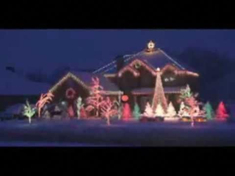 Christmas Light Show - Amazing Grace Techno #outdoorchristmaslights ...