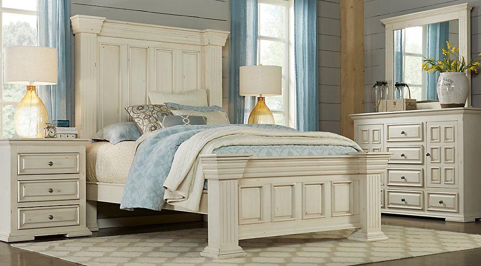 Ashworth Ivory 7 Pc King Panel Bedroom Apartment