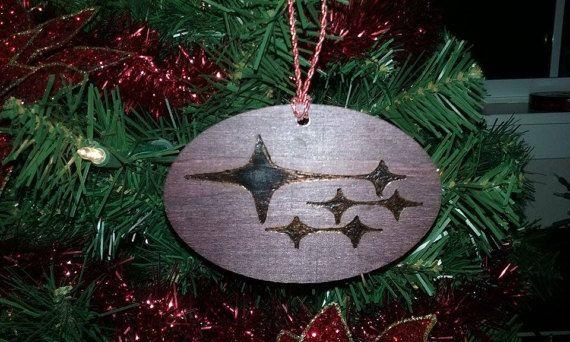 Subaru Christmas Ornaments Wood Burned Wrx By Burninghotboutique Wood Christmas Ornaments Christmas Ornaments Koa Wood Wedding Band