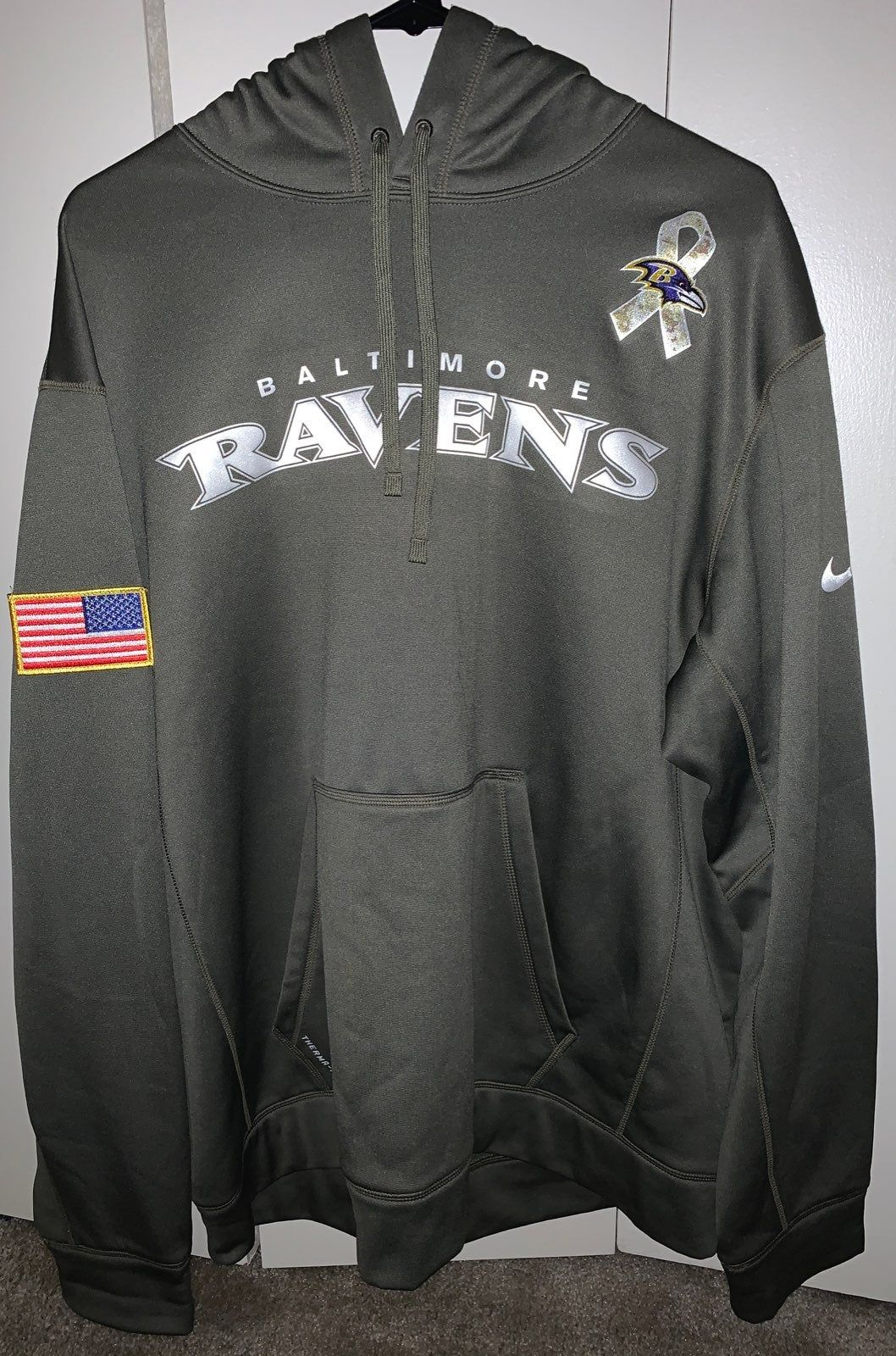 Predownload: Nike Baltimore Ravens Hoodie Salute To Service Men S Size Xl Olive Military Green With Camo Excellent Condition Only Worn Few T Hoodies Baltimore Ravens Nike [ 1600 x 1058 Pixel ]