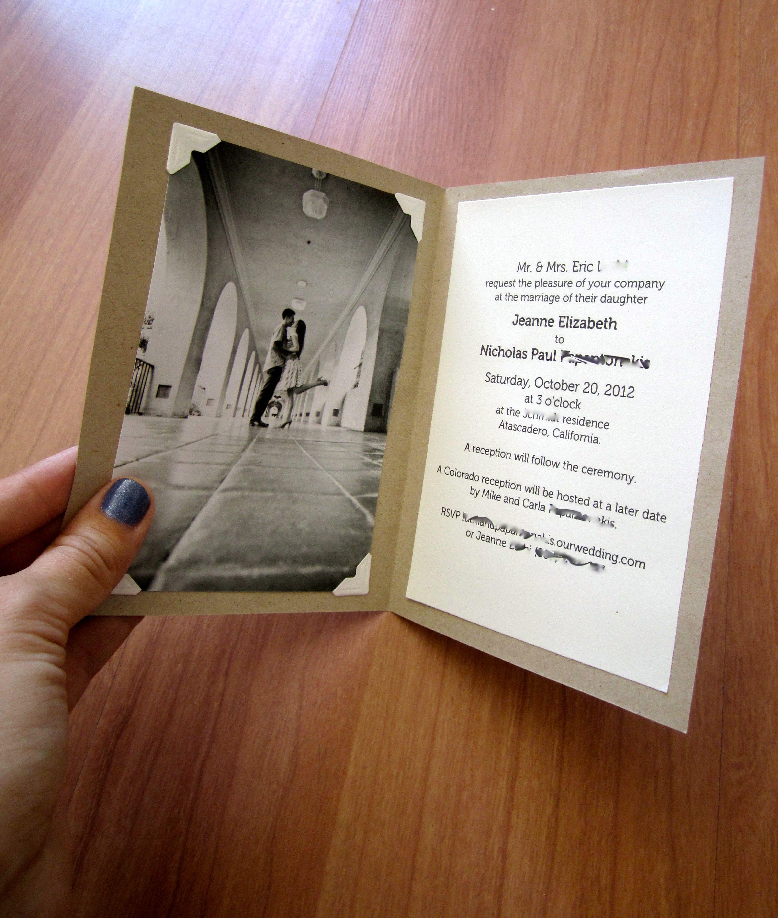 simple diy invitations