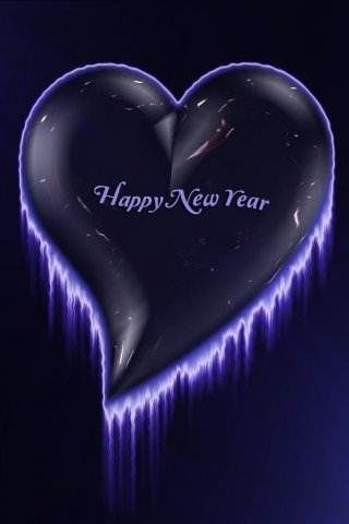 Heart New Year Wallpapers For Mobile Phone 320x480 Wallpapers For Mobile Phones New Year Wallpaper Phone Wallpaper