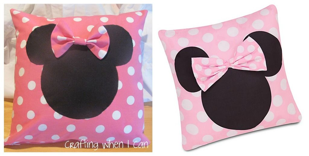 I saw the cutest Minnie Mouse pillow on DisneyStore.com last fall ...