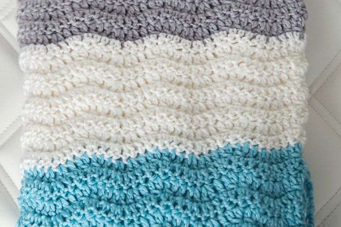 Free Chevron Baby Blanket Crochet Pattern | Crochet and Knit | Pinterest