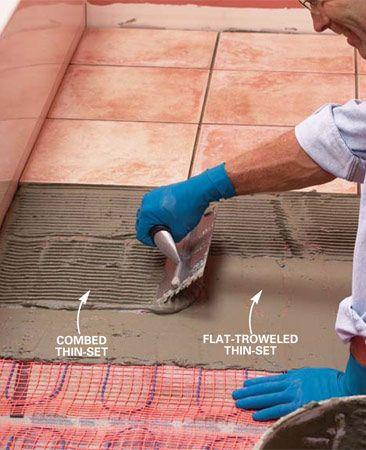 How To Install In Floor Heat Avec Images Accessoires Salle De