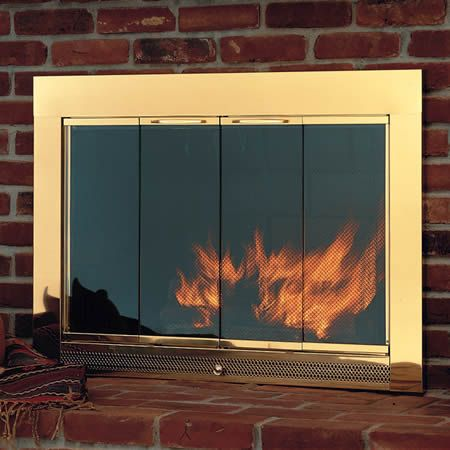 fireplace with black in brass learnshopenjoy door doors pin includes glass screen trim slimline
