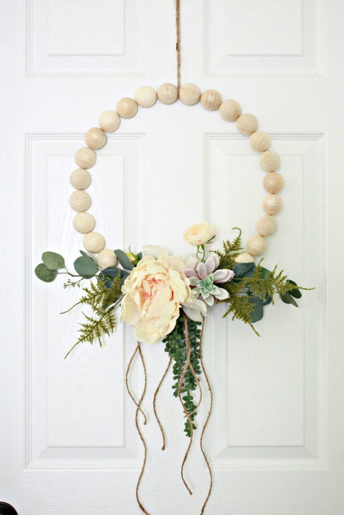 Photo of Wooden Ball Hoop Wreath – Nest of Posies