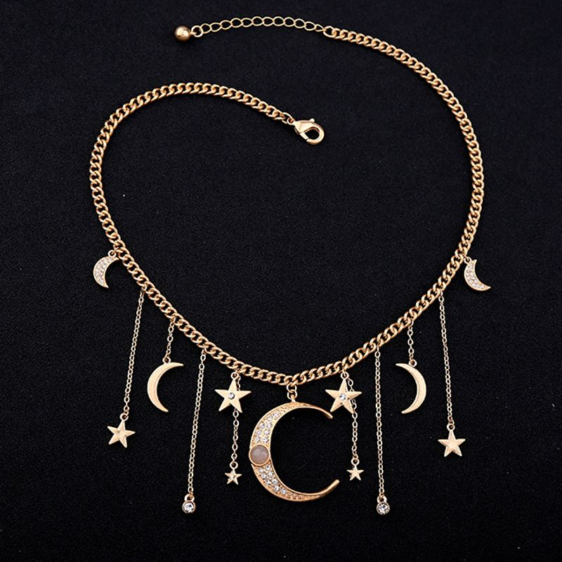 ce122483a6477 Details about Women Crystal Multi-Layer Choker Collar Chunky Pendant ...