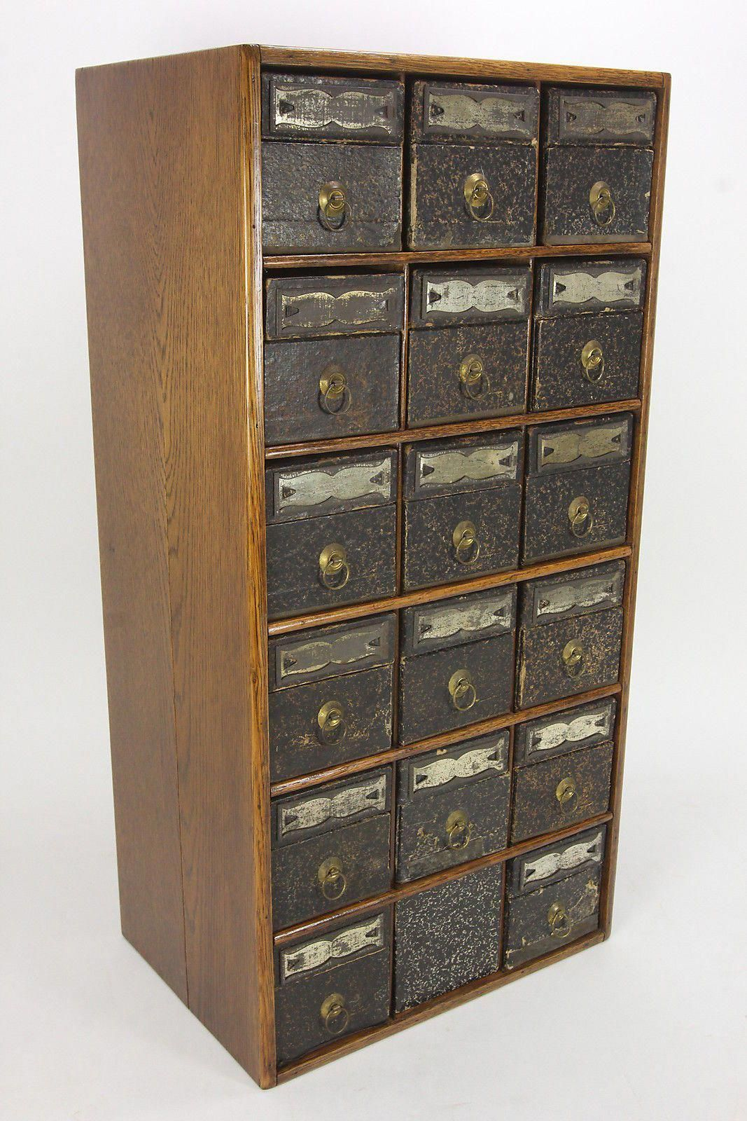 We Are Offering For Your Consideration A Globe Wernicke 18 Drawer File Box Organizer Or Office Cabinet The Cabinet Is Vintage Office Vintage Cabinets Drawers