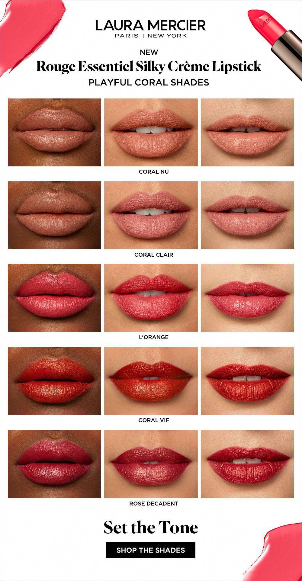 Rouge Essentiel Lipstick Laura Mercier Coral Lipstick Skin Care How To Make Lipstick