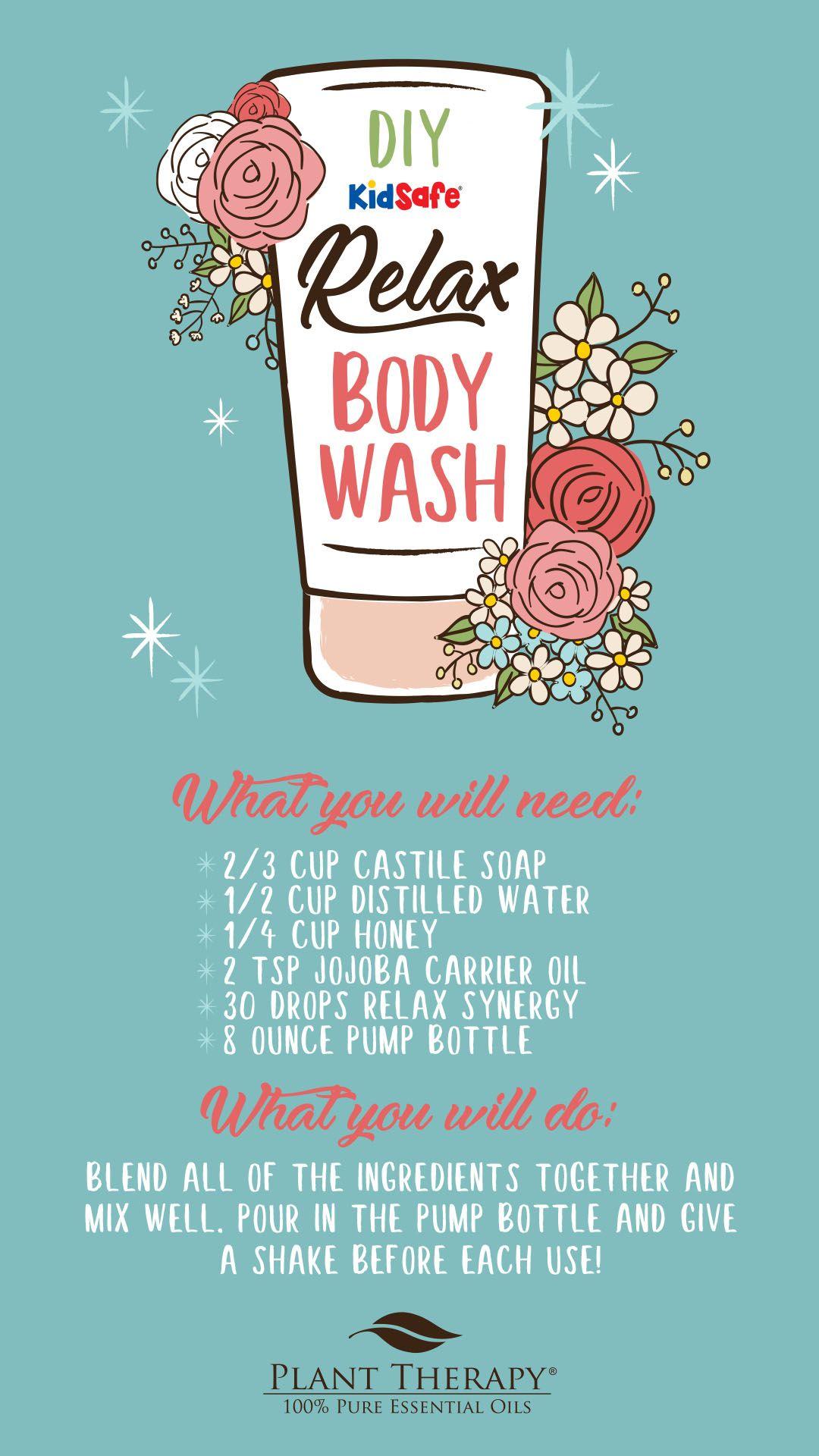 Diy essential oil body wash relax essential oils blend