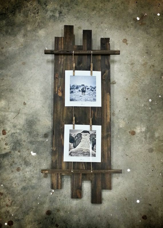 Vertical Rustic Picture Frame For Multiple Photos | Pinterest ...