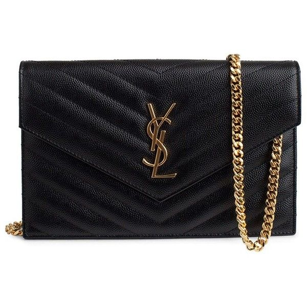 75ba8c7889b Saint Laurent Wallet (3,115 AED) ❤ liked on Polyvore featuring bags, wallets,  ysl, bolsas, clutches, purses, yves saint laurent, decorating bags, ...