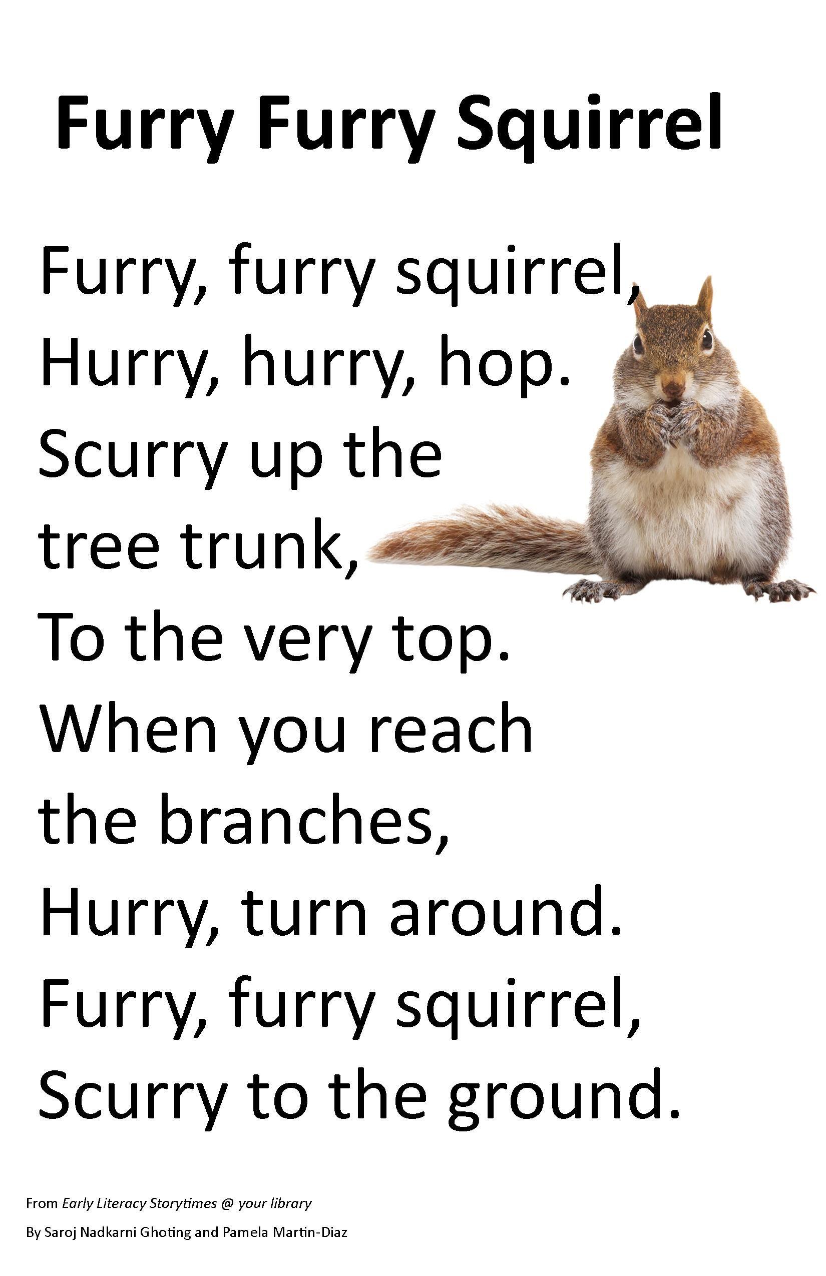 Itty Bitty Rhyme Furry Furry Squirrel
