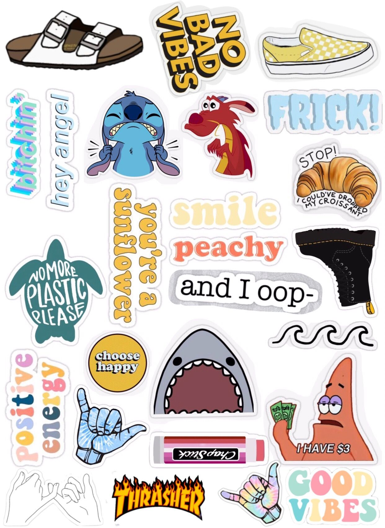Pin by Janell Suarez on Vision Board | Aesthetic stickers ...