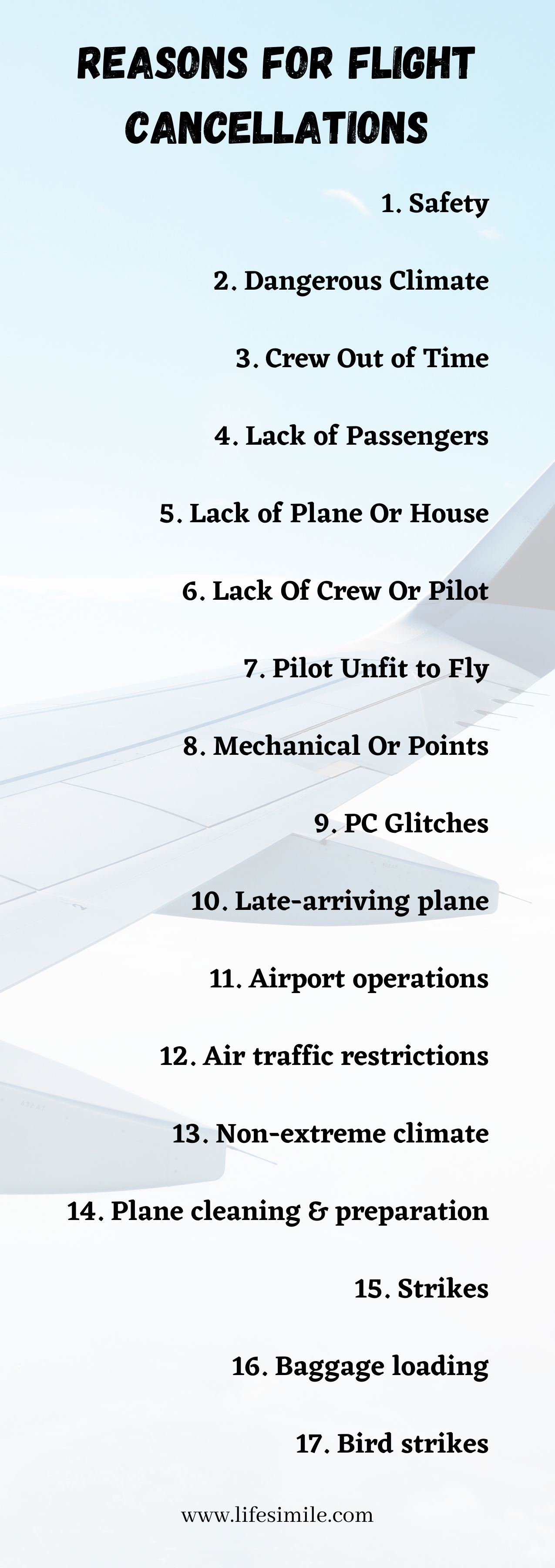 Reasons for Flight Cancellations