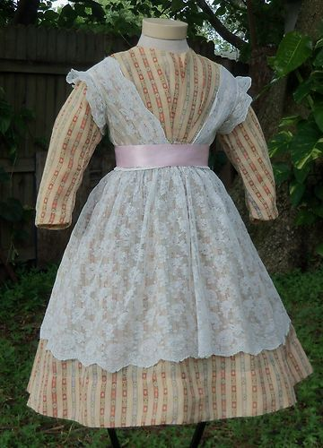Civil War Era Child S Lace Pinafore C 1860s Ebay