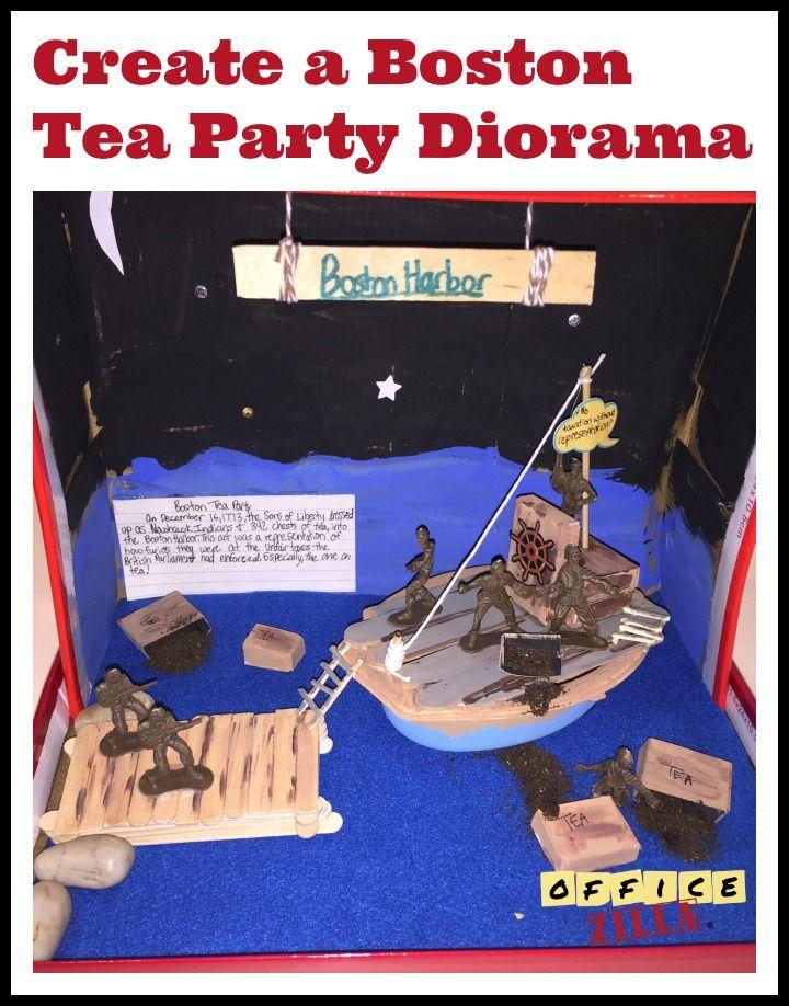 Boston Tea Party Diorama | Homeschool Fun | Pinterest
