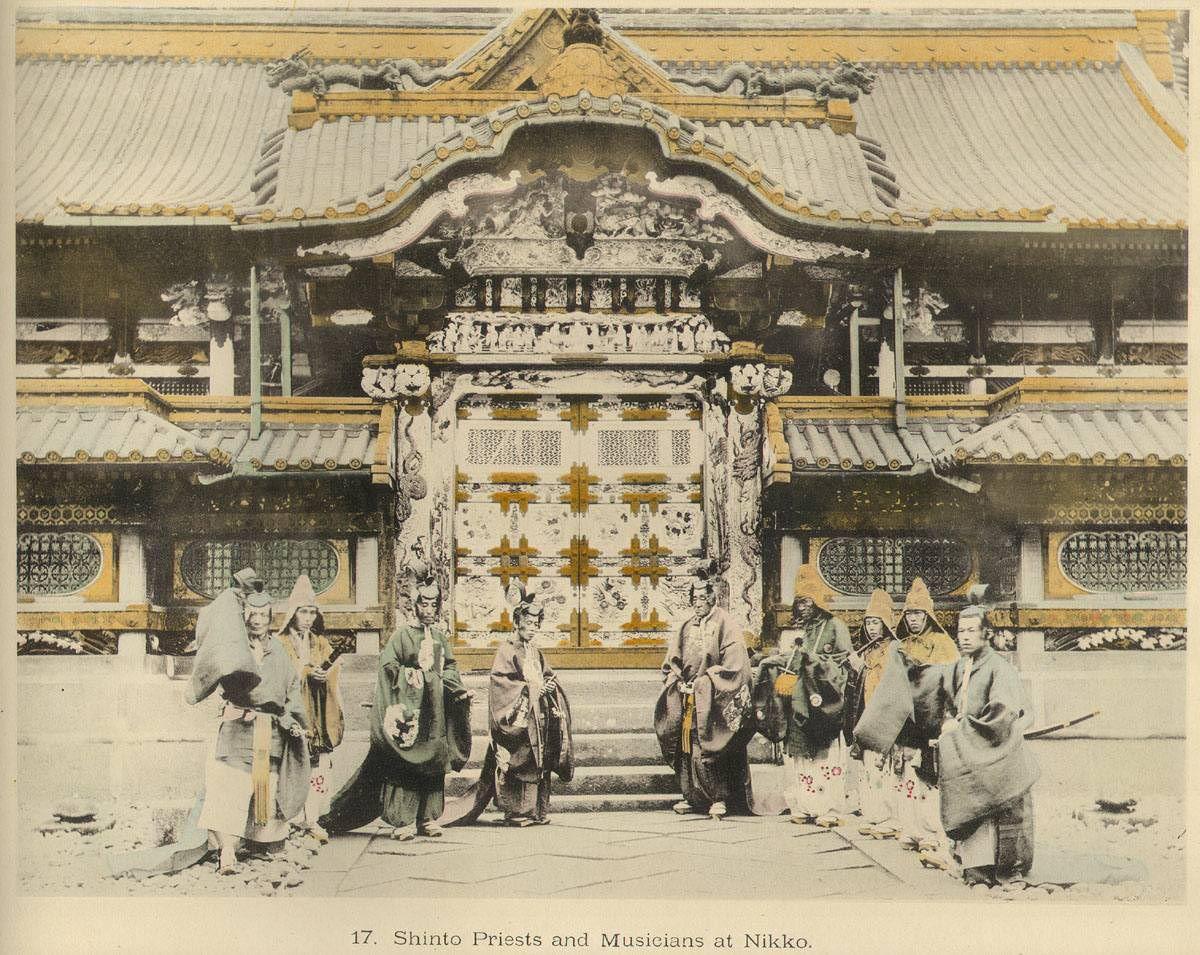 Япония в цвете. Часть 139. 1895. Знаменитые замки и храмы ...