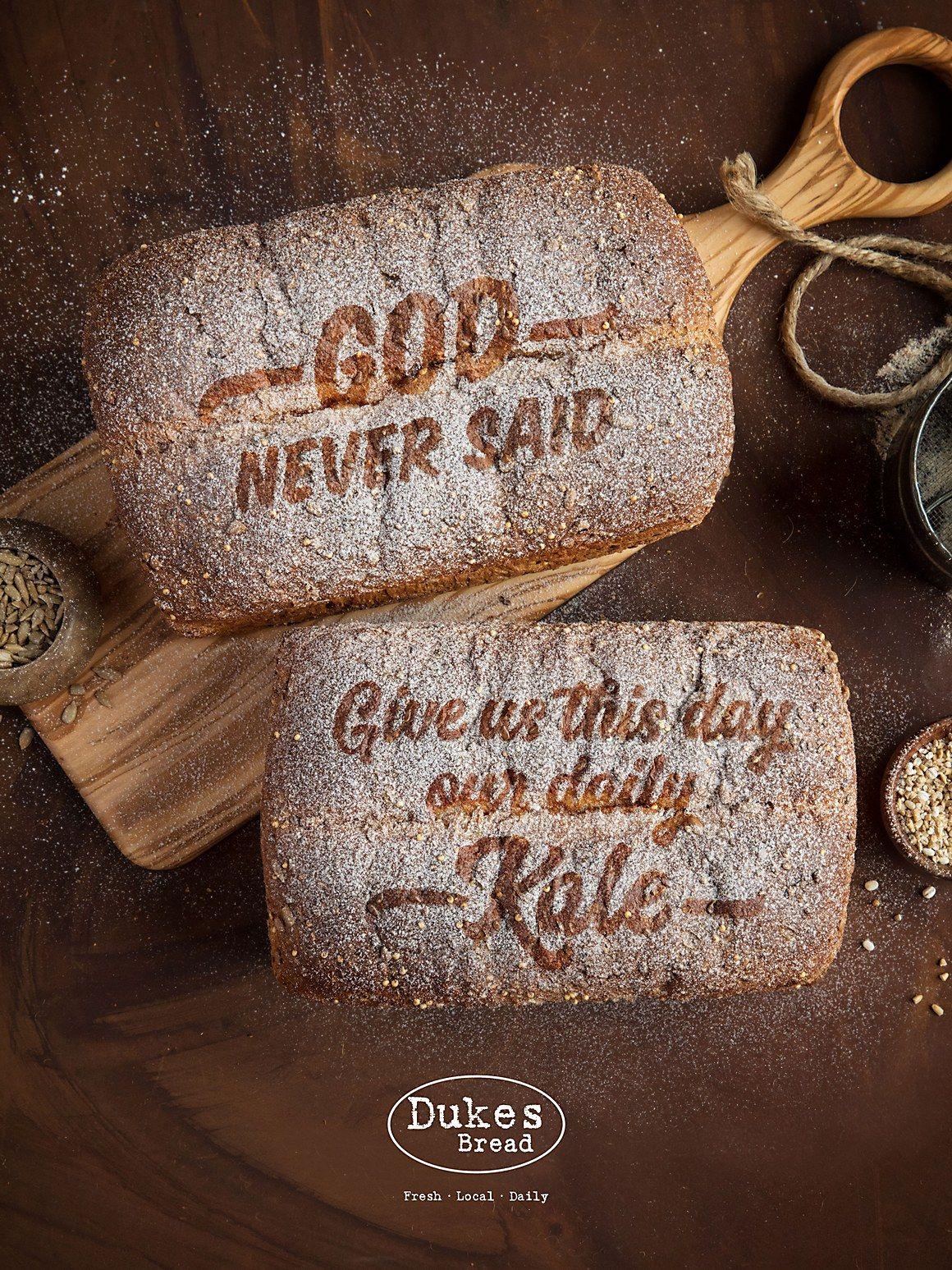 Dukes bread print ads food ads print ads bread brands