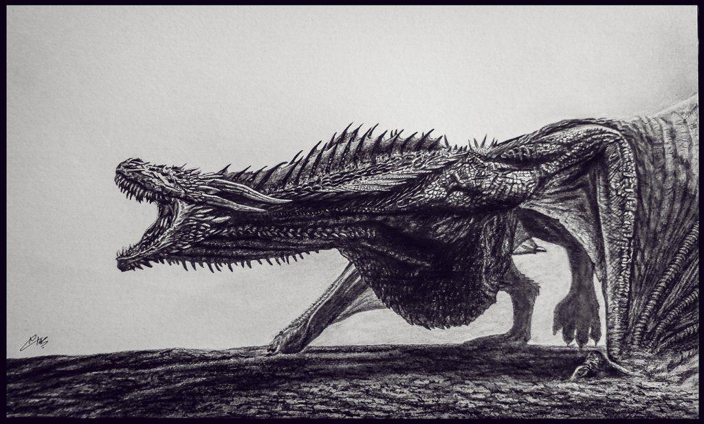 awesome drogon sketch gameofthrones targaryen dragons