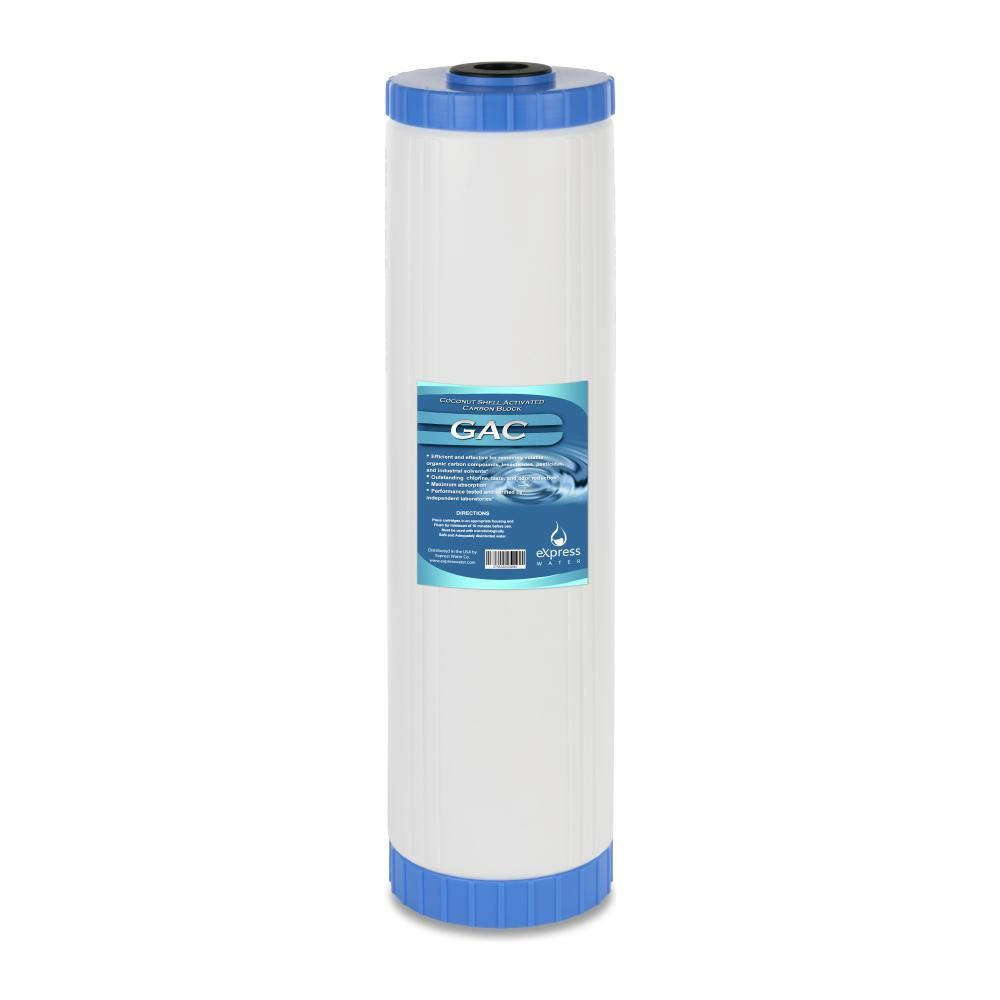 Express Water Granular Activated Carbon Replacement Filter Gac Water Filter Whole House Filtration 5 Micron 4 5 X 20 Water Filter Filters Activated Carbon Filter
