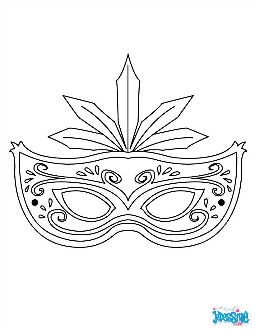 Masques à colorier   Masque à plumes   Masque carnaval, Activité ...