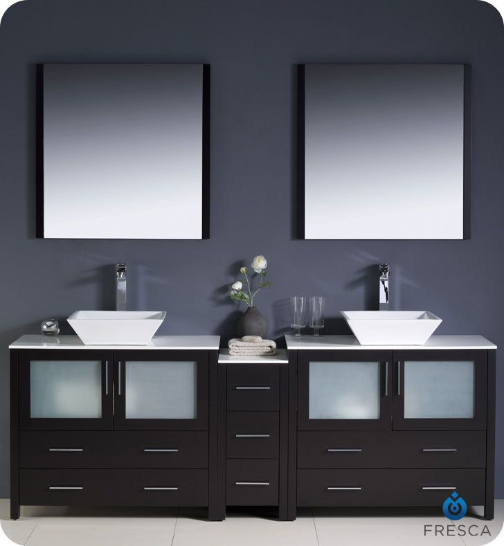 84 bathroom vanity double sink bedroom furniture pinterest rh pinterest com White Bathroom Vanity 84 -Inch White Transitional Bath Vanity