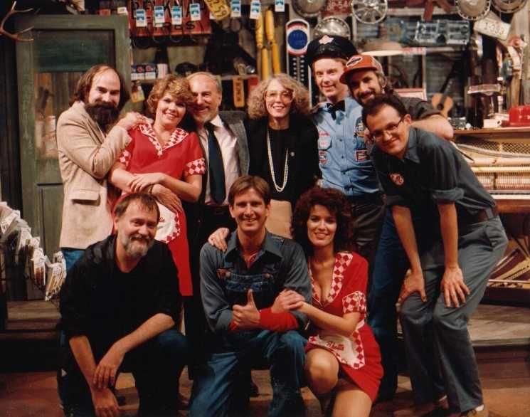 (bottom row) Doug Johnson, Jim Wann, Cass Morgan. (second row) Michael David, Debbie Monk, Ernie and Veronica Chambers, John Foley, John Schimmel, Mark Hardwick.