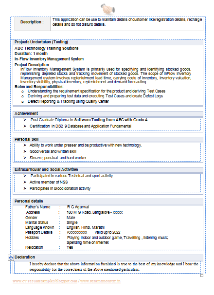 CV Format Doc File Download Page 2 Career Pinterest Cv format