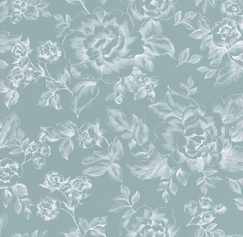 A Fleur De Peau By Caselio Pale Blue Wallpaper 69846404