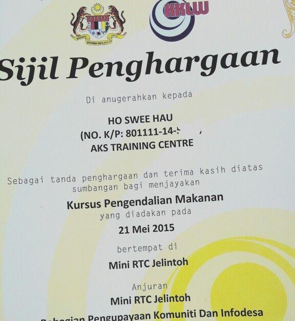 Terima Kasih Kepada Mini Rtc Jelintoh Untuk Sijil Penghargaan Ini Kami Berasa Bangga Dapat Bersama Sama Memberikan Perkhimatan Training Center Train Centre