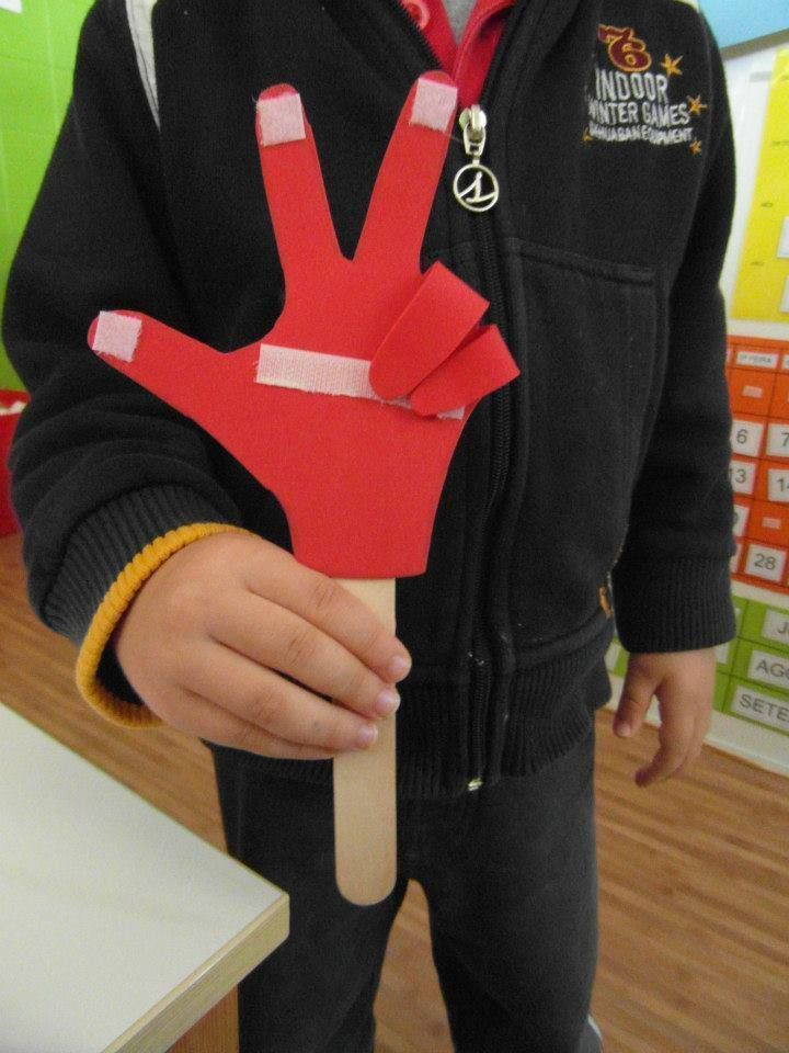 Counting on own fingers might be difficult. But let's try it on this hand and kids will make miracles!