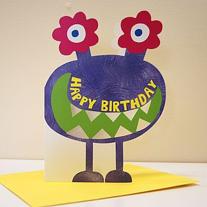 Little Monster Maeko Birthday Card