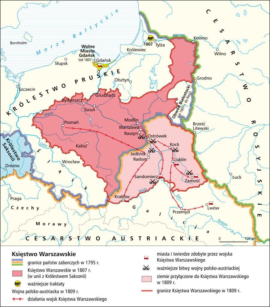 POLAND [1795 - 1809] Duchy of Warsaw | MAPS | Pinterest | Poland ...