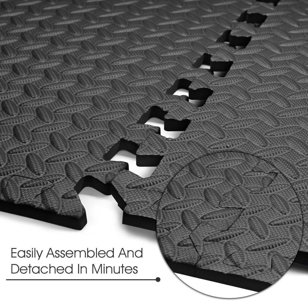 Interlocking Eva Foam Mats Floor Tiles Exercise Gym Play Garage Workshop Foam Mat Flooring Foam Flooring Eva Foam Mats