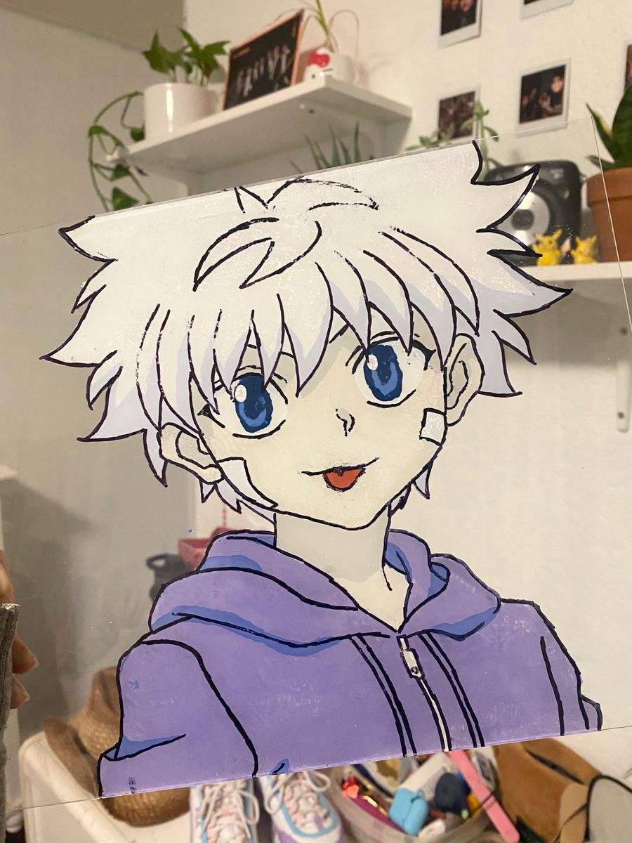 killua glass painting 😋‼️