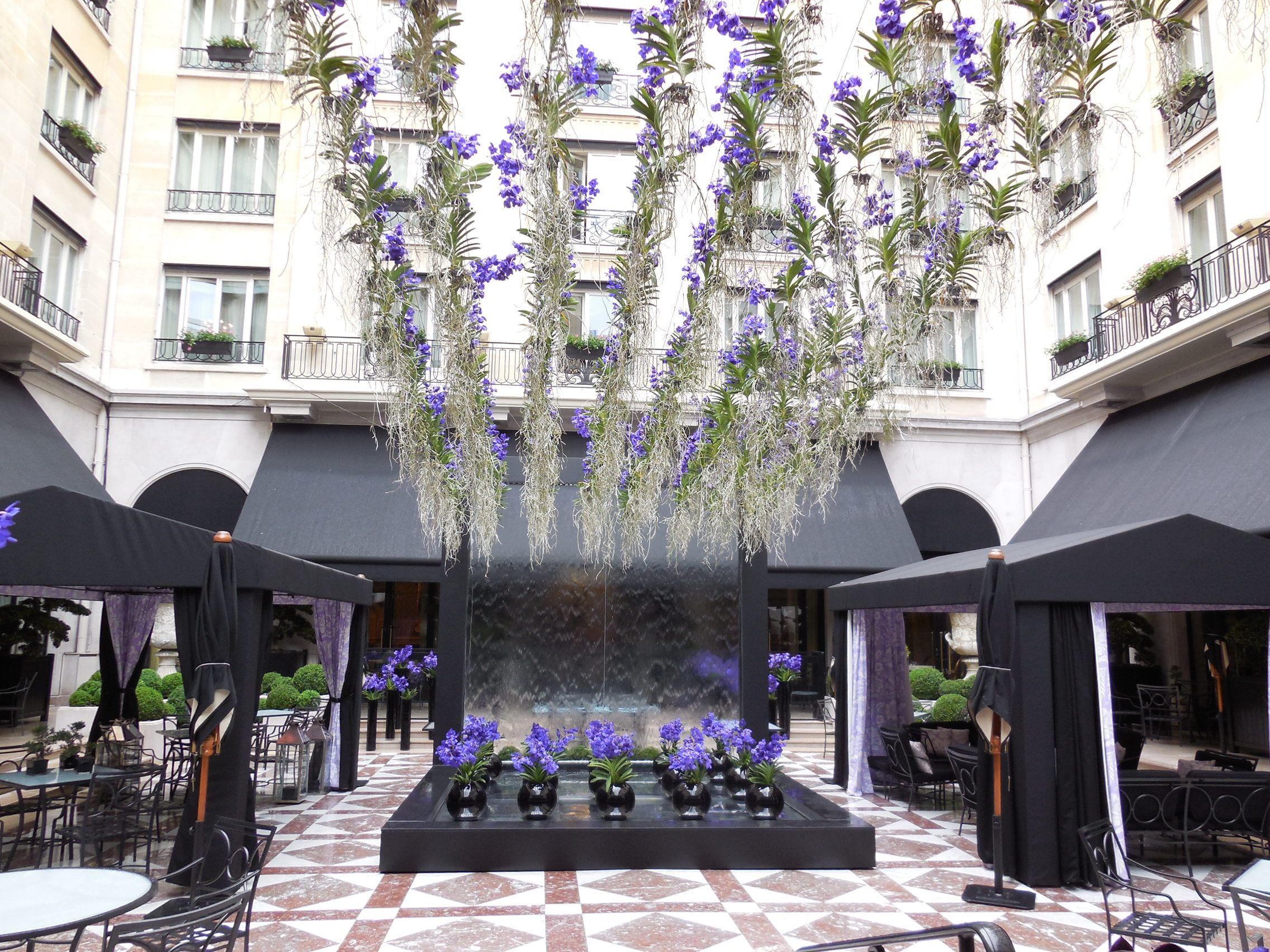 Lavender Patio At Four Seasons Hotel George V Paris (France)