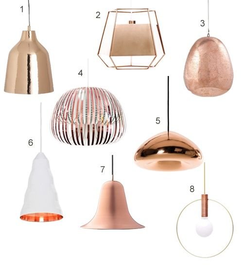 get the look: 15 modern copper pendant lights | stylecarrot