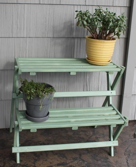 Do It Yourself Home Design: (2-tiered) Folding Plant Stand