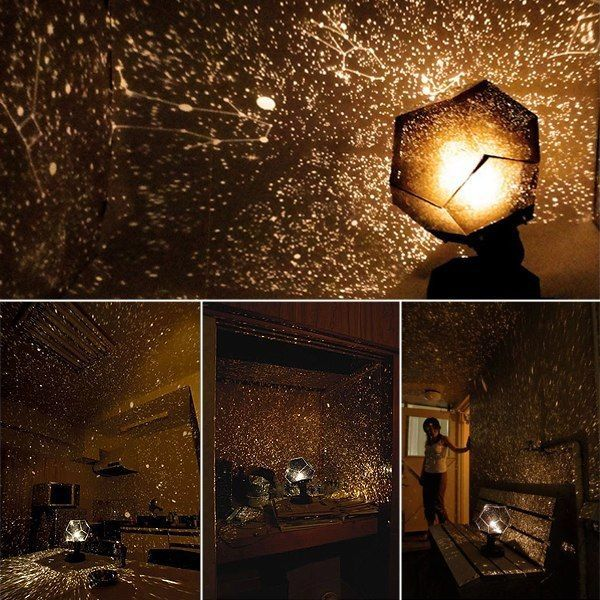 2017 New!romantic Planetarium Star Celestial Projector Cosmos Light Night Sky Lamp New Book Lights