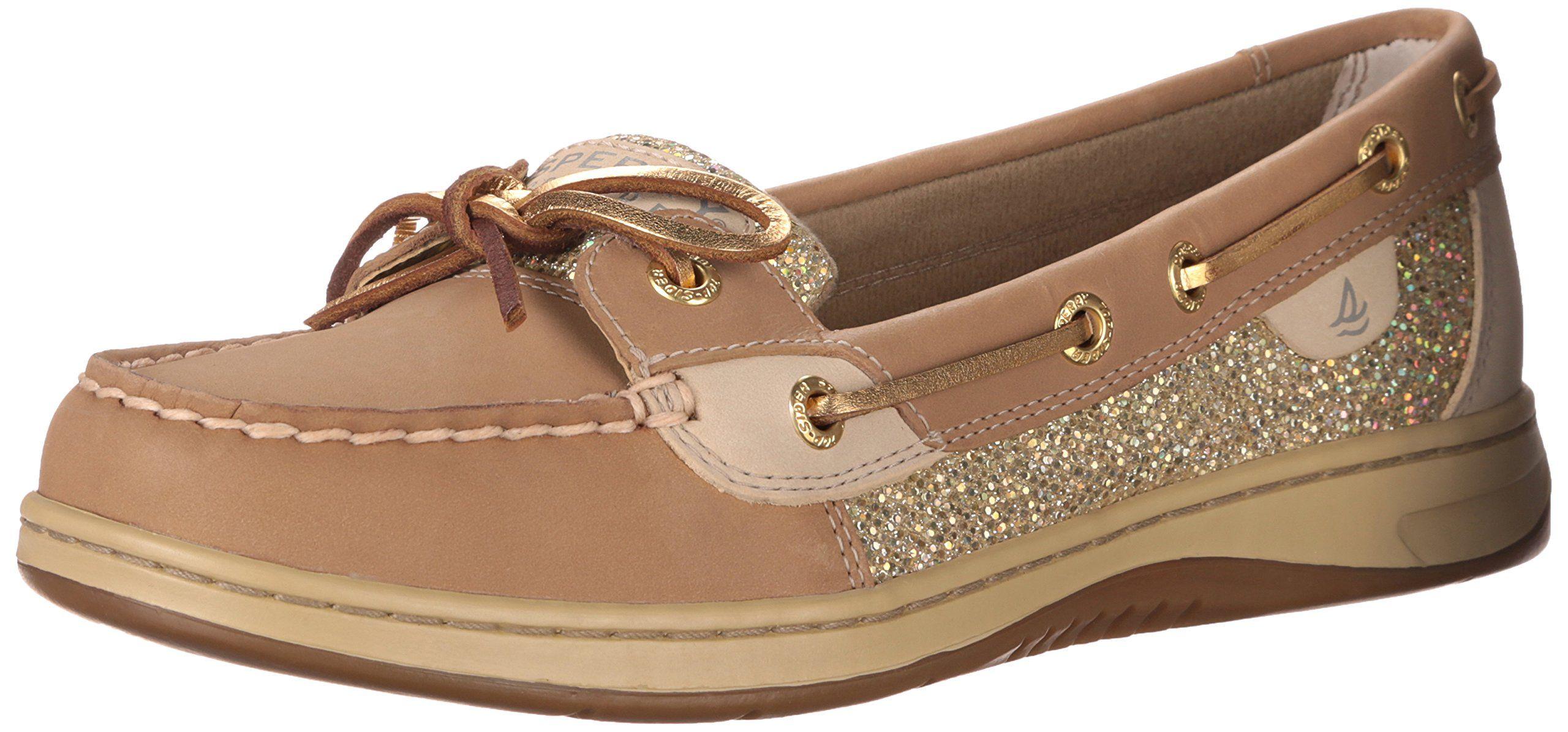 Sperry Top Sider Women S Angelfish Linen Glitter Boat Shoe 8