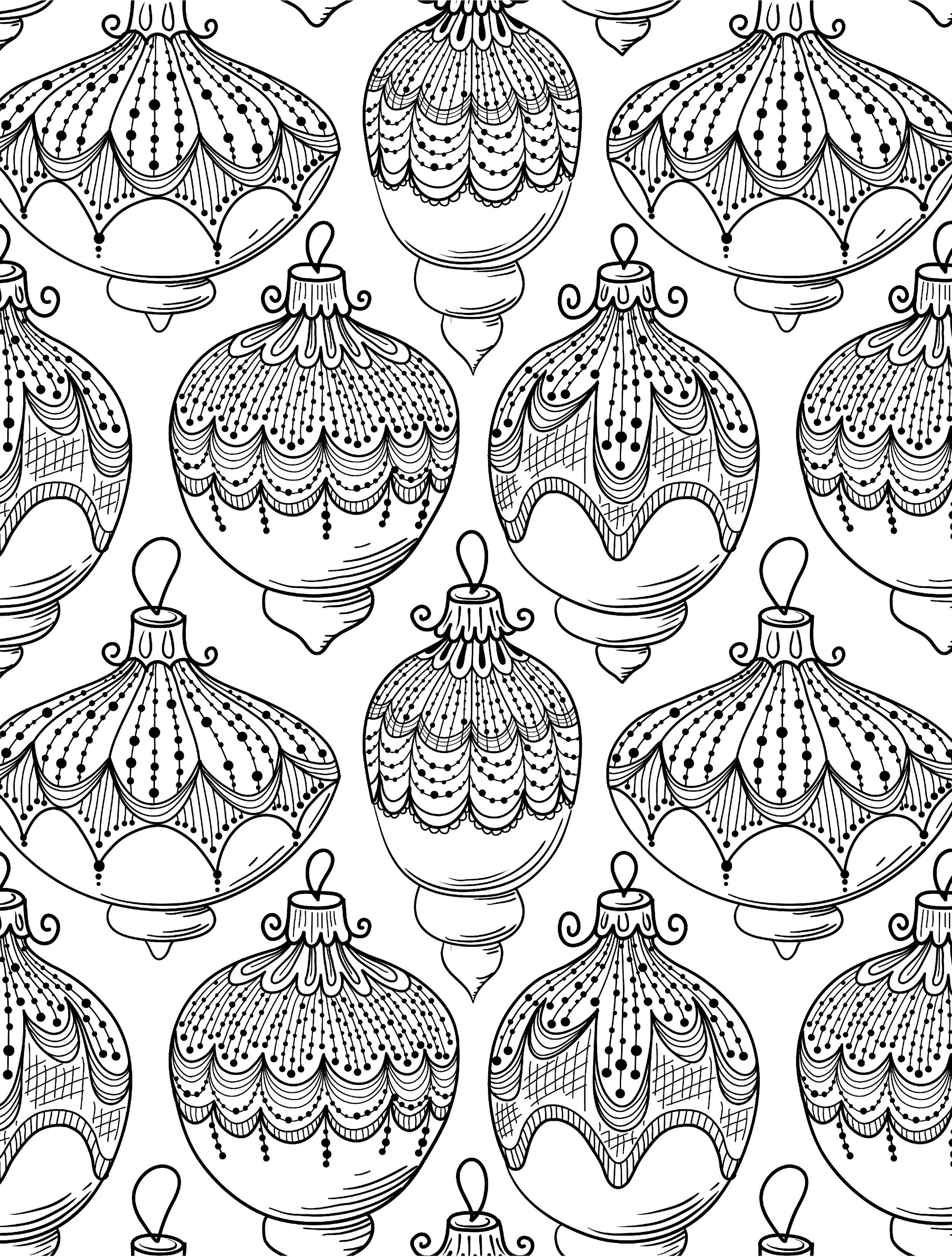 10 Free Printable Holiday Adult Coloring Pages | Colorear, Mandalas ...