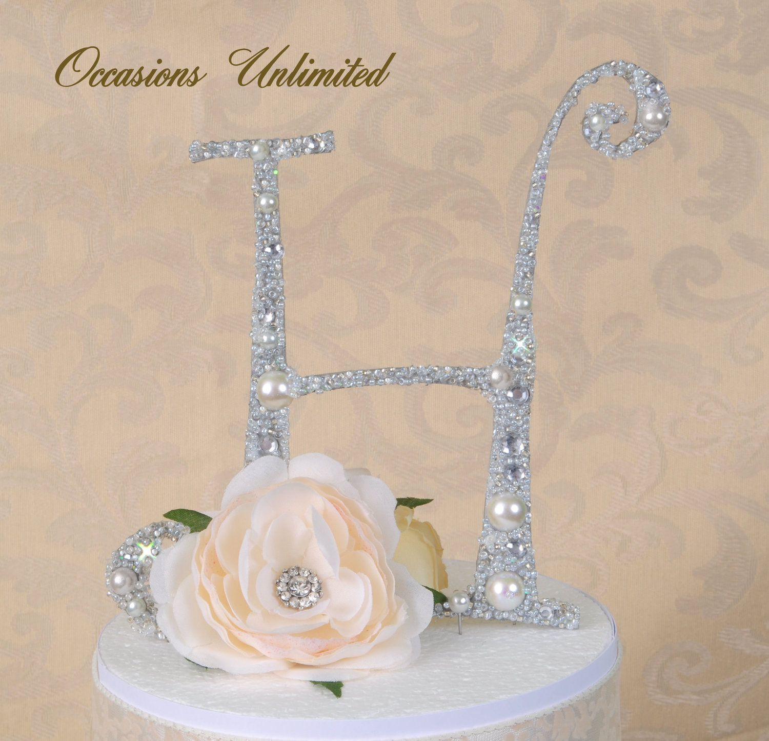 Silver ONLY Wedding Cake Topper