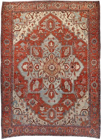 Serapi Carpet Northwest Persia Late 19th Century Size Approximately 12ft 9in X 17ft 7in Persia Rugs On Carpet Carpet