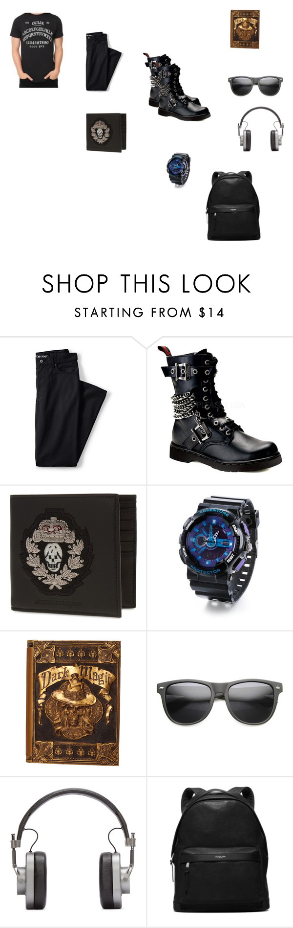 """""""Apocliptica"""" by aimee-st-martin ❤ liked on Polyvore featuring Lands' End, Demonia, Alexander McQueen, Master & Dynamic, Michael Kors, men's fashion and menswear"""