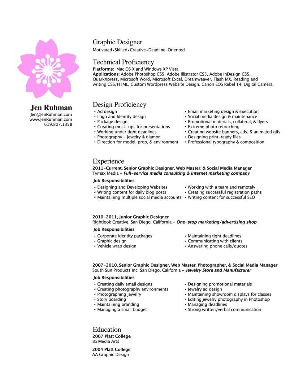 Graphc Design Resume Graphic Design Resume Resume Design Resume Words