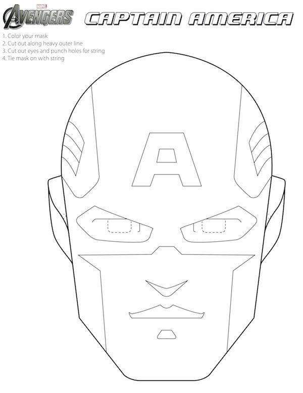 Captain America Craft Mask | Marketing Ideas | Pinterest | Masken ...